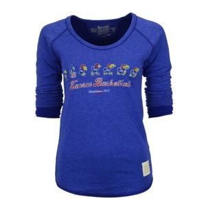 Kansas Jayhawks Women's Retro long sleeve T shirt